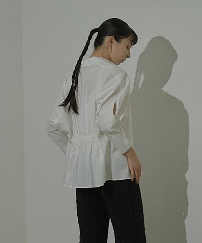 ワイドスリーブバックシャーリングシャツ〔メール便可/100〕