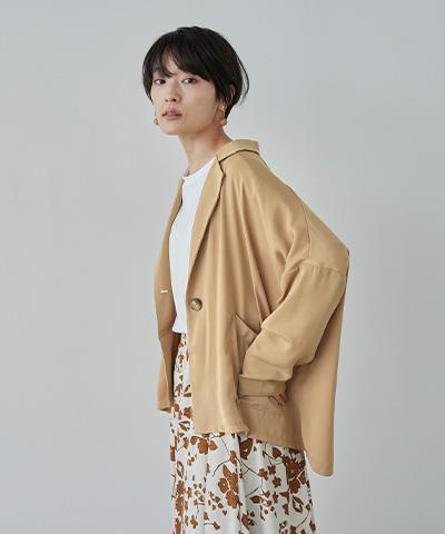 フロントワンボタンワイドジャケット〔メール便可/100〕