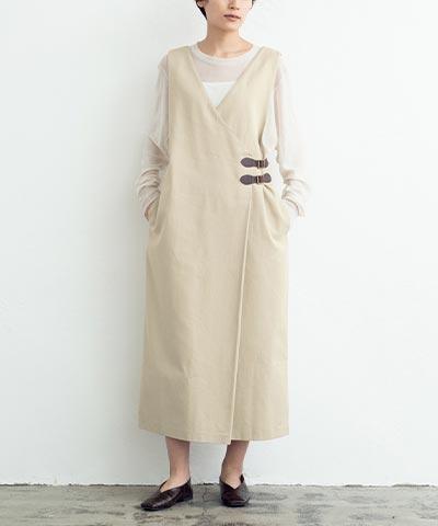 ダブルベルトラップジャンパースカート